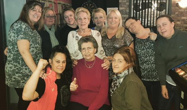 The Lord Clive Ladies darts team