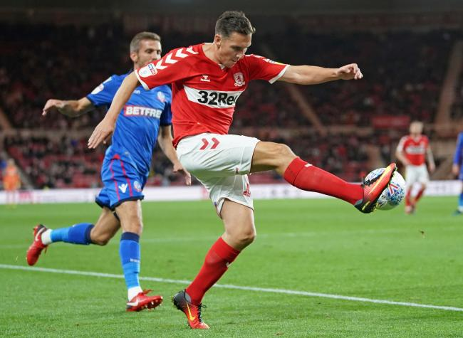 Stewart Downing in action for Middlesbrough last season