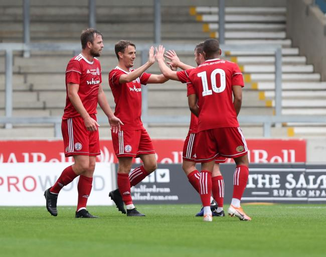 Stanley celebrate their opening goal. Picture: KIPAX