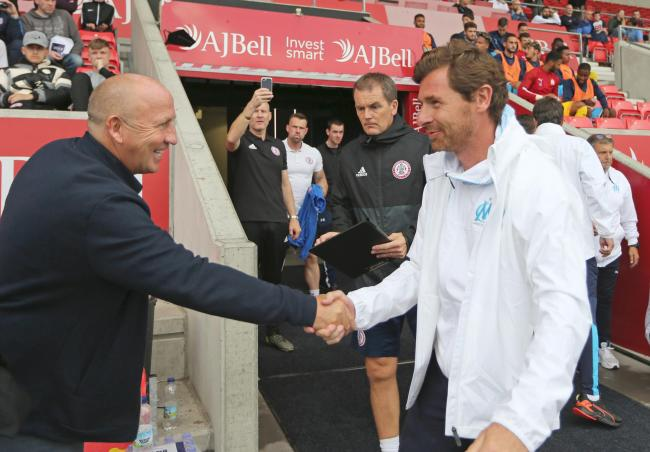 John Coleman with Andre Villas-Boas. Picture: KIPAX
