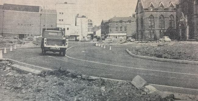 Angouleme Way town centre bypass, Bury, in 1969