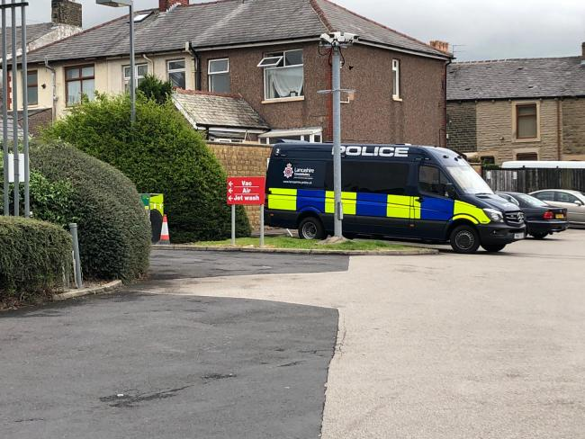 Counter-terrorism officers executed warrants at an address on Manor Street in Accrington