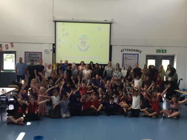 Children from Barden Primary and Longton Primary schools celebrate diversity