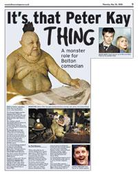MAKEOVER: Peter Kay gets transformed into a monster