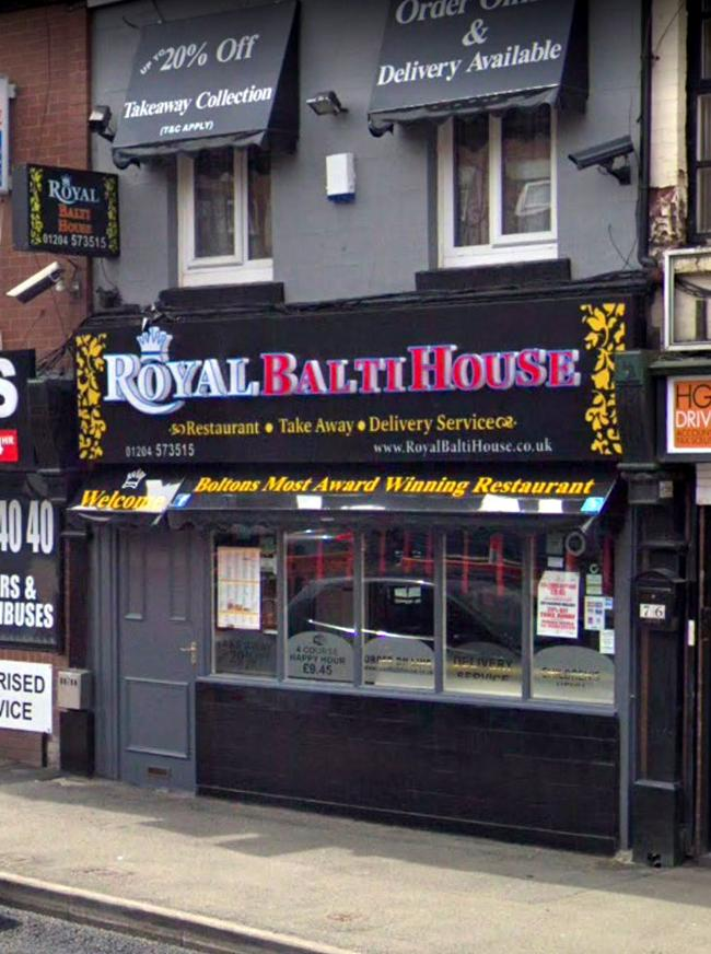 Royal Balti House in Farnworth.
