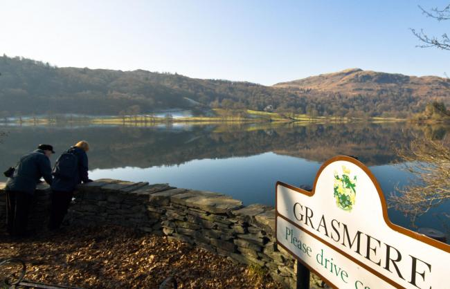 Grasmere and village sign.