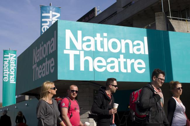 The National Theatre on the South Bank of the River Thames in London