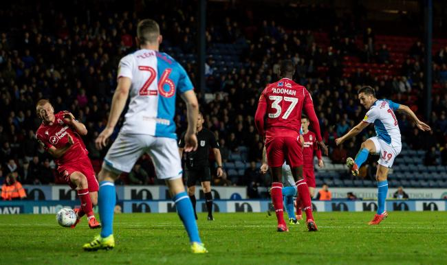 Stewart Downing went close to a late winner for Rovers against Nottingham Forest