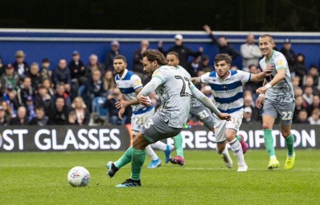 Bradley Dack scores for Rovers on a rare high point of the afternoon