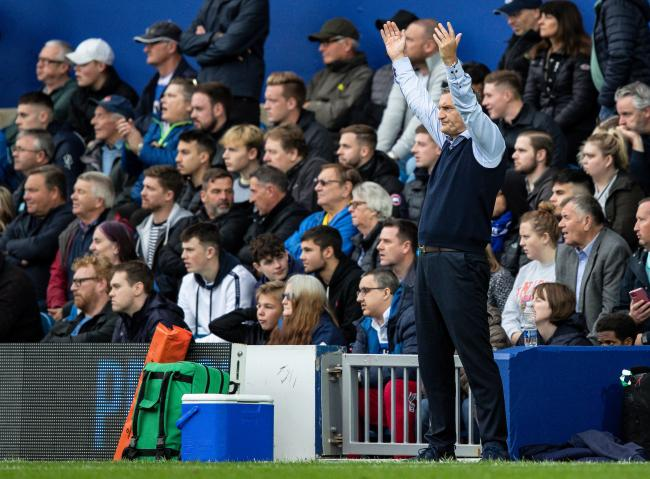 Rovers boss Tony Mowbray shows his frustration during the defeat at QPR