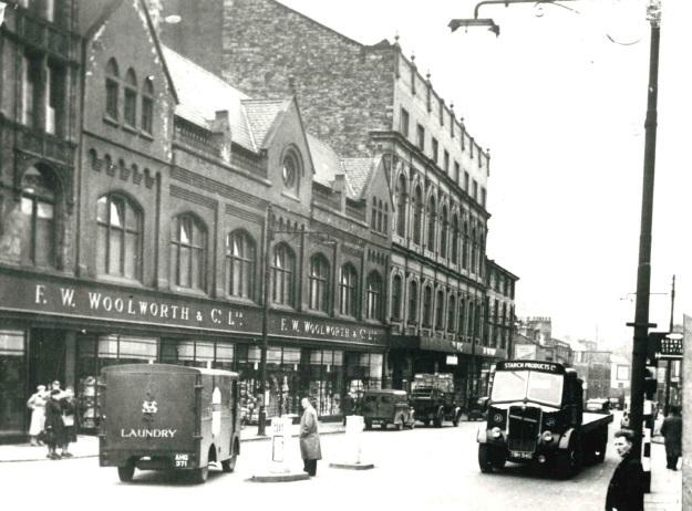 Former Woolworths store in St James's Street, Burnley, sometime between 1950 and 1952