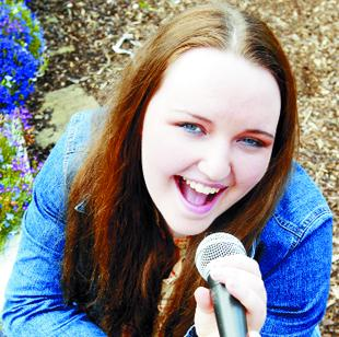 SOUNDALIKE: The voice of teenage singer Jessica Ellerton, above, has been compared to that of country and western star Dolly Parton