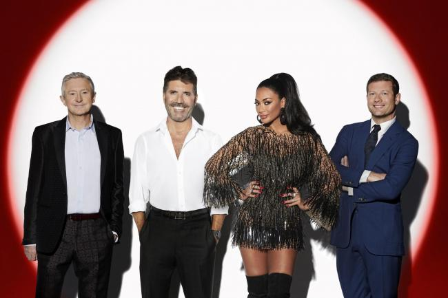 Louis Walsh, Simon Cowell, Nicole Scherzinger and Dermot O'Leary in the new ITV series of The X Factor: Celebrity