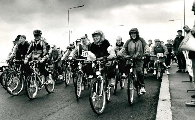 Todays picture from The Bolton News archives was taken in 1991 and shows some of the 800 cyclists who took part in a charity bike ride to raise money for Barnados. The images shows the first wave of riders setting off from Beaumont Road.