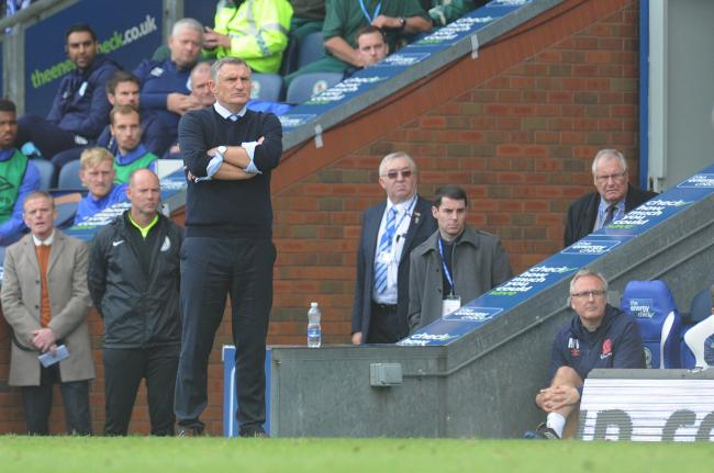 Tony Mowbray watches on during Rovers' draw with Huddersfield Town