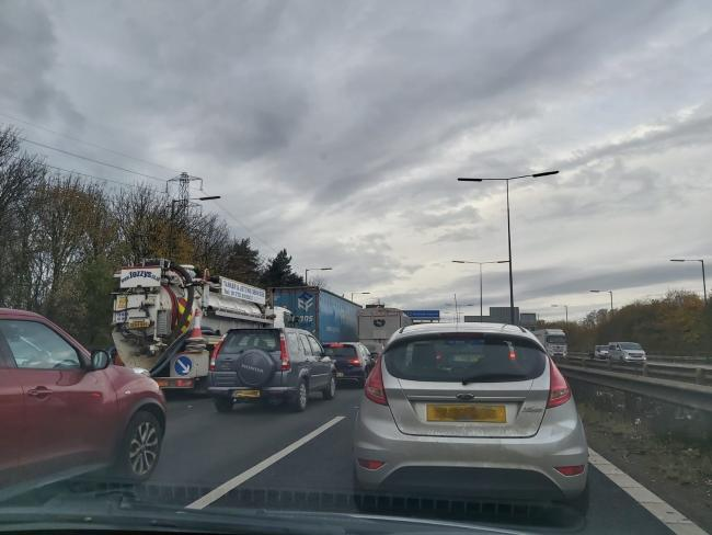 Queues on the M60 near Junction 17