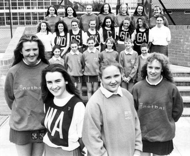 Today's picture from The Bolton News archives shows netball playing pupils from St Josephs School, Horwich. The school's year 10 and 11 year group teams won the Bolton Schools Netball Knockout Tournament and year 7 were runners up in 1993.