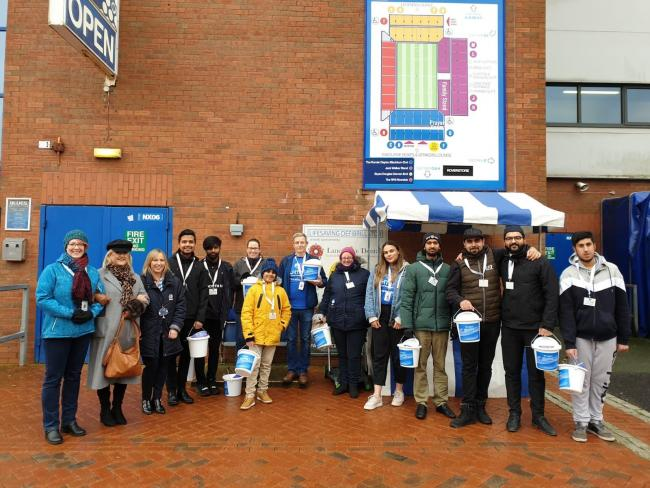 ELHT&Me held a bucket collection in the grounds prior to the game