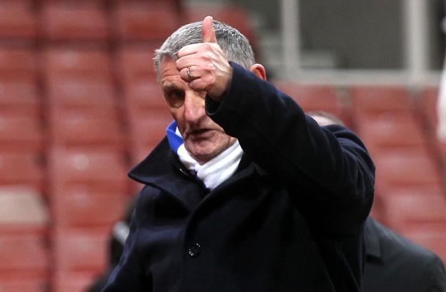 A thumbs to the away end from Rovers manager Tony Mowbray