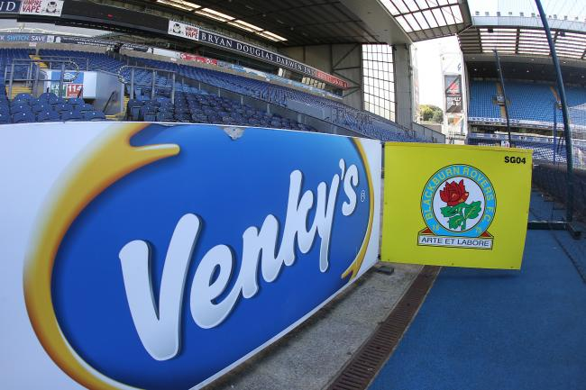 Venky's signage is seen around Ewood Park since their takeover in 2010