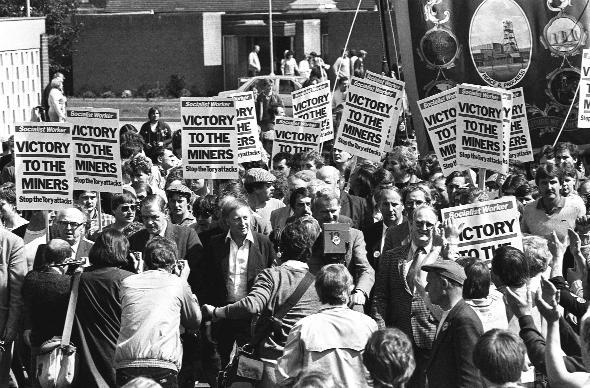 BITTER DISPUTE: Arthur Scargill at the head of a march and rally in May, 1984