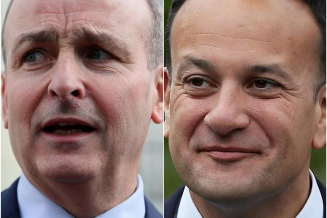 Micheal Martin and Leo Varadkar (Brian Lawless/PA)