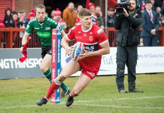 Ryan Shaw doing his thing for Hull Kingston Rovers, but has now signed for Leigh Centurions and could make his debut this week.