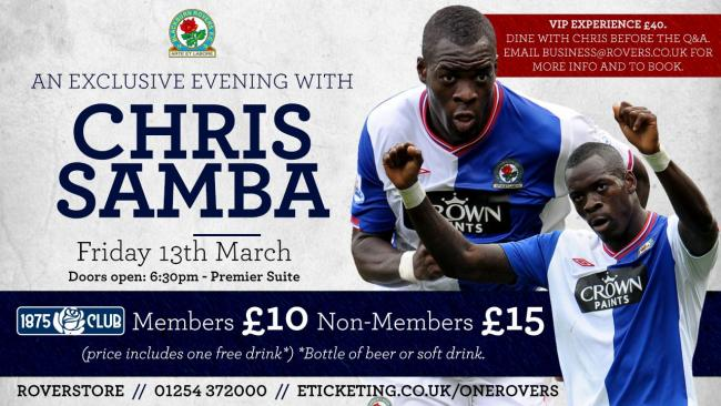 Chris Samba will be the subject of a Q&A next month
