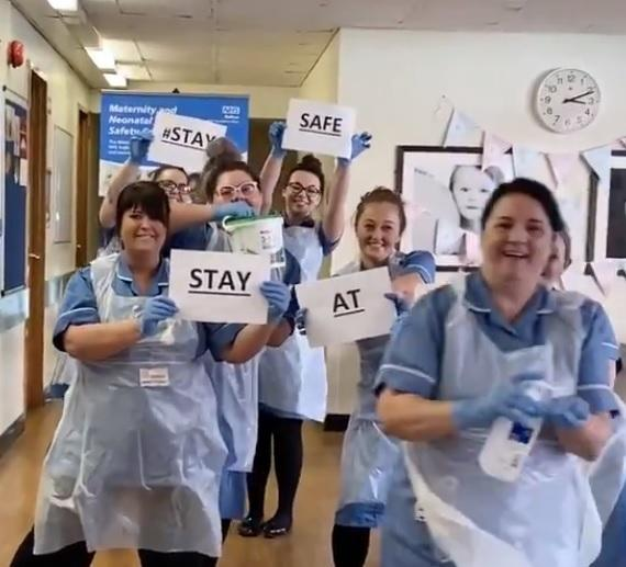 Midwives at the Royal Bolton Hospital have a strong message