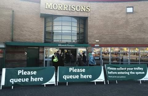 DISTANCE: New measures to prevent the spread of coronavirus have been implemented at Morrisons stores in Bolton