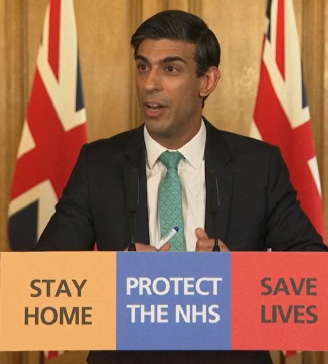 Chancellor Rishi Sunak during a media briefing in Downing Street, London, on coronavirus (COVID-19). Photo: PA Video/PA Wire