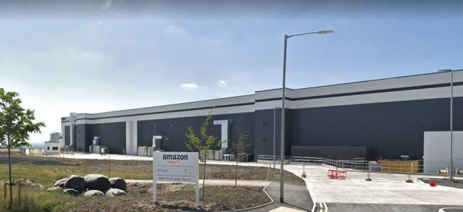 Amazon distribution warehouse, off the A6, Bolton