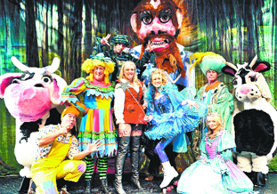 GIANT FUN: The cast of Jack and the Beanstalk take to the stage