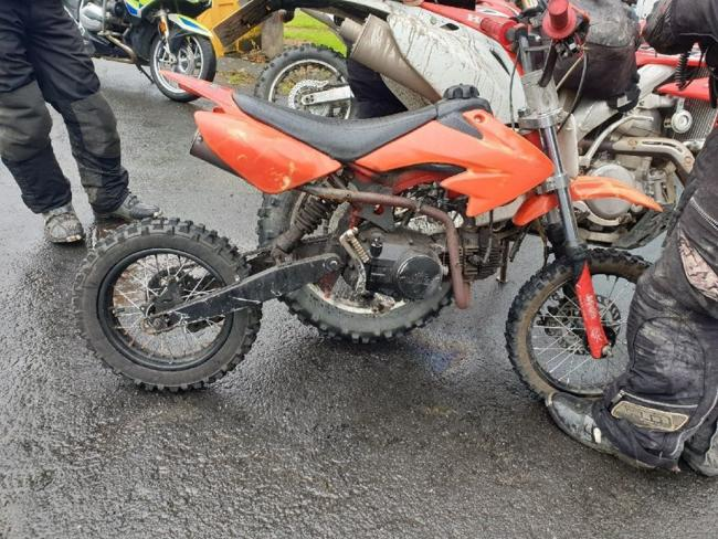 The bike which was seized by police