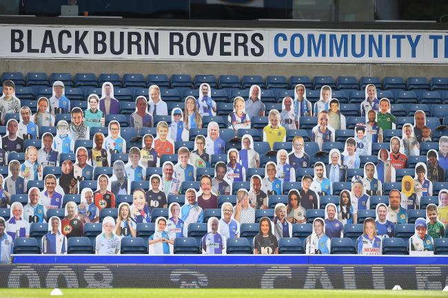 Cardboard cut-outs have replaced supporters inside Ewood Park since the re-start
