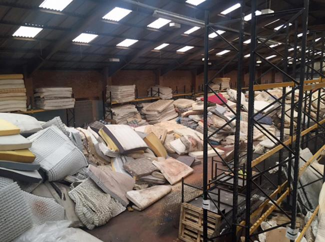 Embargoed to 0001 Monday June 26..Undated handout photo issued by The Furniture Recycling Group of discarded mattresses at a recycling centre, as unwanted mattresses are creating an environmental menace across the UK, with millions ending up in landfill o