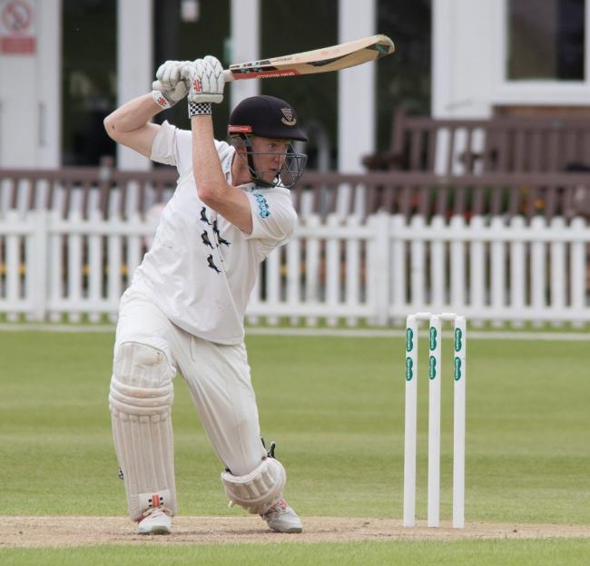 Luke Wells, on way to unbeaten 90 to steer Sussex home against Leicestershire.June 12, 2017.