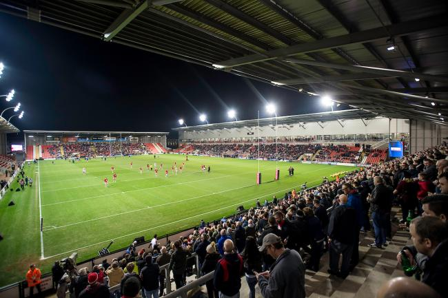 Leigh Sports Village staging Super League in 2017. Picture: SWpix.com