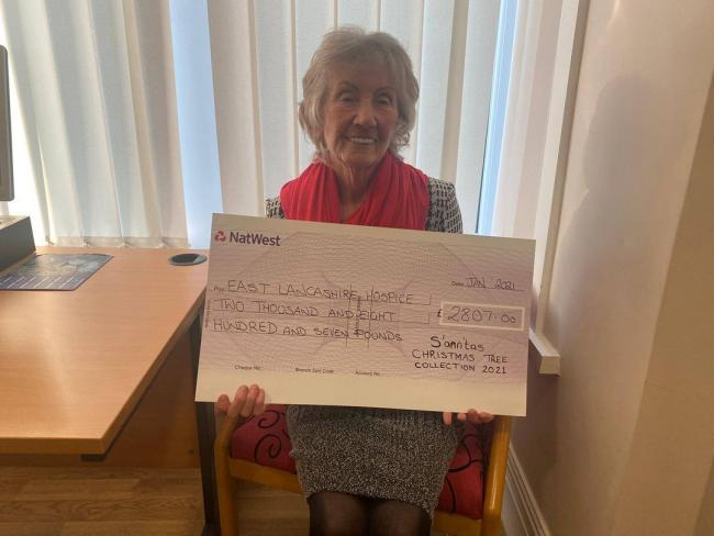 GENEROUS: East Lancashire Hospice patient