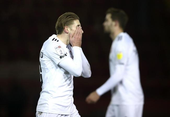 Joe Pritchard can't hide his frustration at Lincoln