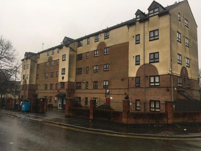 SCENE: Fire at block of flats
