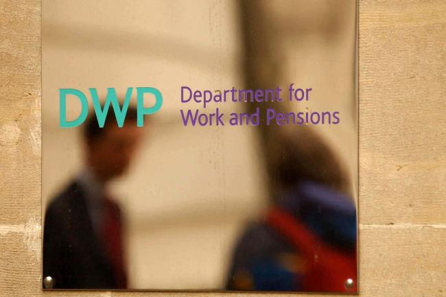 A Department for Work and Pensions sign