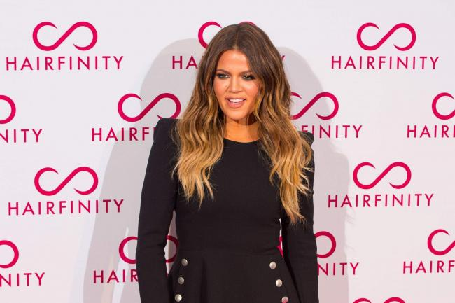 Khloe Kardashian on a red carpet