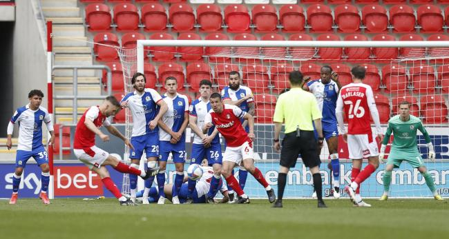 Lewis Wing scored Rotherham's equaliser from a late free kick