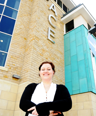SUCCESS: Operations manager Nicole Morgan outside the centre
