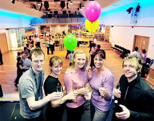 TEAM From left, events manager Matt Evans, cafe manager Laura Clarkson, receptionists Catherine Taylor and Samantha Rawcliffe, and owner Steven Lancaster
