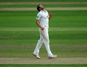 EMOTION Lancashire's Tom Smith reacts