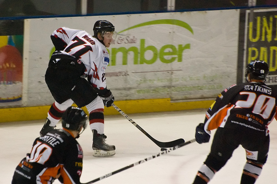Josh Ward in action for Phoenix against Telford Tigers