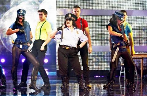 SHOWSTOPPER Alice Barry performs George Michael's hit Outside on let's Dance for Sport