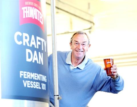 CHEERS Cricket legend David 'Bumble' Lloyd toasts the launch of the new Thwaites craft brewery